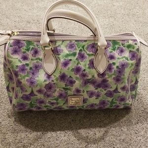 Dooney and bourke petunia barrel satchel